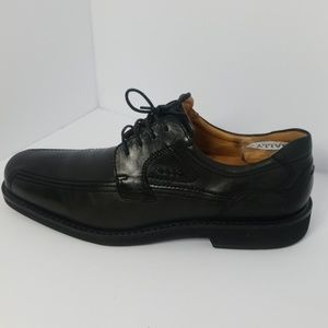 Ecco Black Leather Oxford Dress Shoes Size 45
